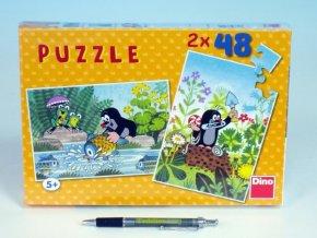 Puzzle Krtek 26,4x18,1cm 2x48 dílků