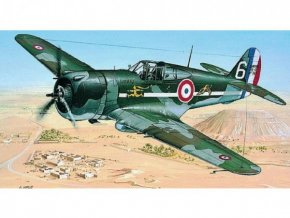 Model Curtiss P-36/H.75 Hawk 11,6x15,7cm v krabici 25x14,5x4,5cm
