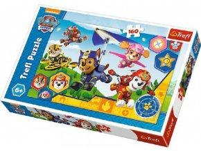 Puzzle Tlapková Patrola/Tlapková Patrola 41x27,5cm 160 dílků v krabici 29x19x4cm