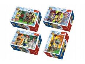 Minipuzzle Toy Story 4 54 dílků 4 druhy v krabičce 6x9x4cm