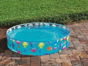 Pevný bazén pro děti - mořská zvířátka, 122x25cm