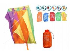 Drak létající nylon asst 6 barev 60x51cm v sáčku (1 ks)