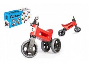 Odrážedlo FUNNY WHEELS Rider Sport červené 2v1, výška sedla 28/30cm nosnost 25kg 18m+ v krabici