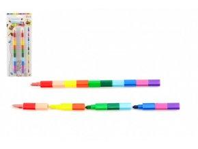 Pastelky měnící barvu 2ks 22cm na kartě