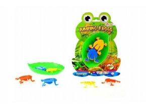 Skákající žáby společenská hra plast na kartě 17x23,5cm