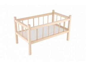 Postýlka pro panenky dřevo 49x28x28cm v sáčku