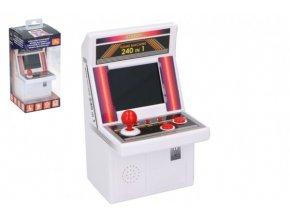 Automat hrací na arkádové hry plast na baterie 240 her v krabici 10x21x10cm v sáčku