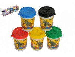 Modelína/Plastelína v kelímku 5ks mix barev v krabičce 40x8x8cm