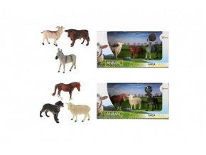 Zvířátka domácí farma 3ks asst 2 druhů v krabičce 29x15x10cm