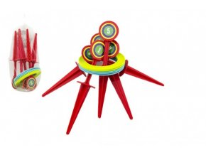 Hra házecí kroužky a kolíky plast 25cm v síťce