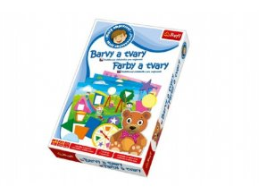 Malý objevitel Barvy a tvary edukační společenská hra v krabici 19x29x4cm