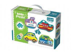 Puzzle baby Dopravní prostředky 2ks v krabici 27x19x6cm 12m+