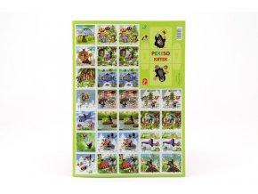 Pexeso Krtek papírové společenská hra 32 obrázkových dvojic 22x30cm