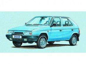 Model Kliklak Škoda Favorit 13,5x6,7cm v krabici 25x14,5x4,5cm