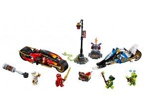 LEGO Ninjago Kaiova motorka s čepelemi a Zaneův sněžný vůz