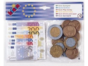 Euro bankovky a mince