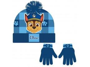 zimní set-čepice, rukavice Tlapková Patrola
