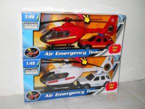 1:48 záchranáři auto a vrtulník (2 druhy)