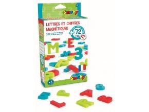 Magnetická písmena a čísla 72ks