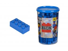 Blox 100 Kostičky modré v boxu