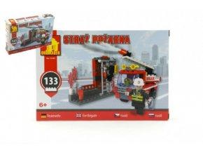 Stavebnice Dromader Hasiči Auto 21401 133ks v krabici 22x15x4,5cm