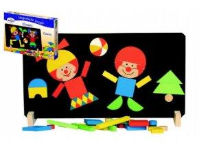 Magnetické puzzle Klauni v krabici 33x23x3,5cm