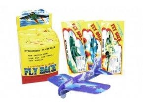 Letadlo házecí polystyren/dřevo model 20cm asst 4 druhů v sáčku