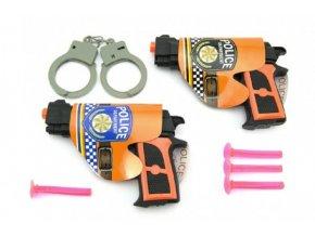 Pistole 2ks s přísavkami + doplňky plast 15cm v sáčku
