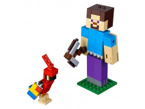 LEGO Minecraft Minecraft velká figurka: Steve s papouškem