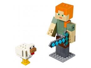 LEGO Minecraft Minecraft velká figurka: Alex s kuřetem