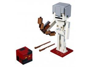 LEGO Minecraft Minecraft velká figurka: Kostlivec s pekelným slizem