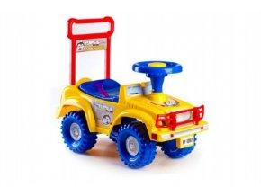 Odrážedlo auto Yupee žluté 53,5x48,3x26cm v krabici od 12 do 35 měsíců