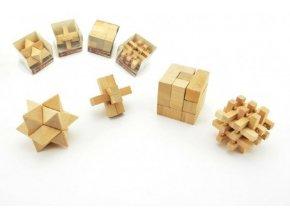Hlavolam dřevo 7cm asst 4 druhy v plastové krabičce (1 ks)
