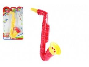 Saxofon plast 23cm asst 2 barvy na kartě