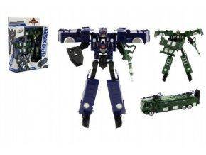 Transformer auto/robot policie plast 17cm asst 2 barvy v krabici 21x27x7,5cm