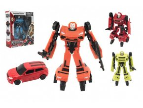 Transformer auto/robot plast 17cm asst 4 barvy v krabici 19x23x6cm