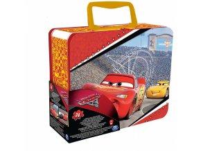 Cars 3 puzzle v plechovém kufříku