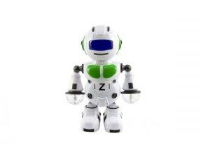 Robot tancující plast 23cm na baterie se světlem se zvukem