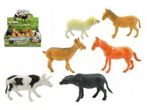 Zvířátko domácí farma plast 10cm asst mix druhů (1 ks)