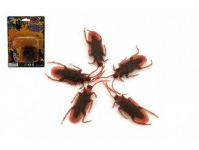 Hmyz švábi plast 4cm 5ks na kartě