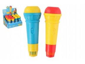 Mikrofon s ozvěnou plast 15cm asst 2 barvy (1 ks)