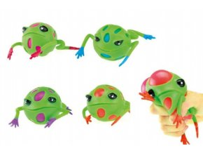 Žába mačkací sliz antistresový 9cm 4 barvy v sáčku (1 ks)