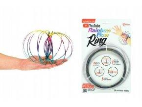 Flow Ring kovová barevná spirála průměr 13cm na kartě 16x24cm