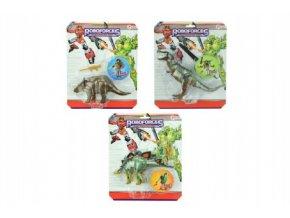 Transformer dinosaurus/robot plast 22cm 3 druhy na kartě