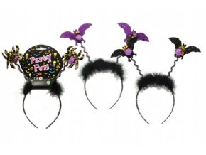 Čelenka s netopýrem plast 26cm asst 3 druhy karneval