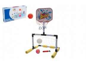 Sada basketbal vodní + fotbalová branka 2v1 v krabici 47x26x7cm