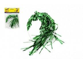 Čelenka s barevnými vlasy plast 13cm karneval v sáčku