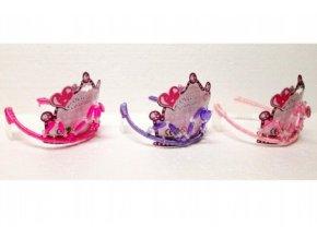 Sada krásy pro princeznu plast čelenka 13cm 3 druhy
