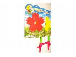 Slunečnice stříkací s připojením na zahradní hadici plast 67cm na kartě