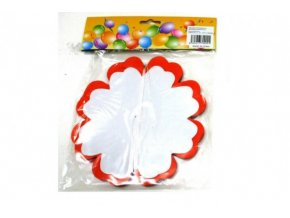 Girlanda papírová květ 4m mix druhů v sáčku karneval